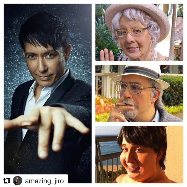 My amazing friend Jiro created these super prothetic characters for me to play my magical family members in #cyrilsfamilyvacation Hawaii. #goodolddays❤️ #magic #cyriltakayama @amazing_jiro @special_jiro #specialeffectsmakeup